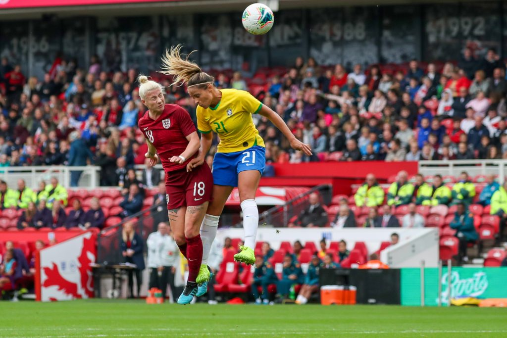 England 'ecstatic' after scoring first senior goal for the Lionesses