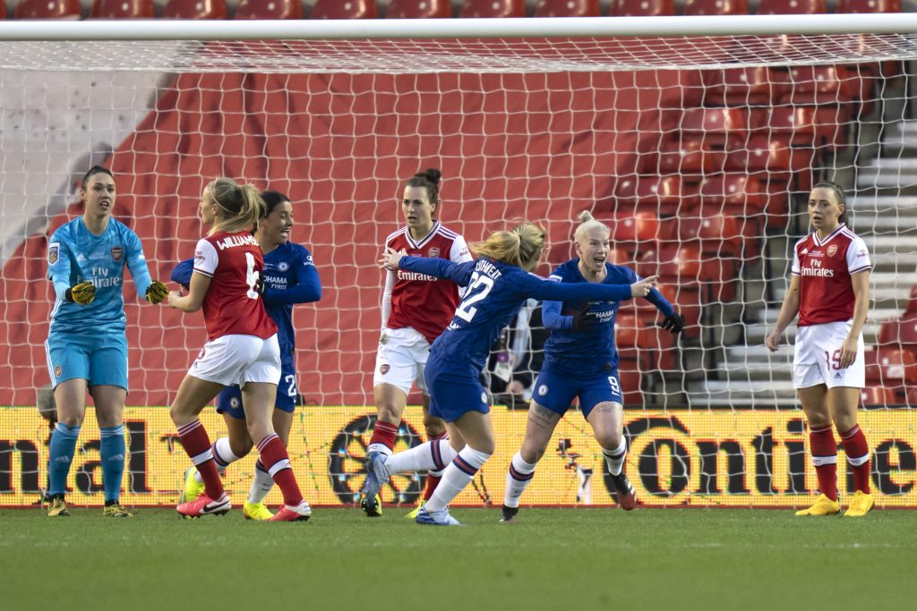 England nets twice as Chelsea record maiden Conti Cup final success