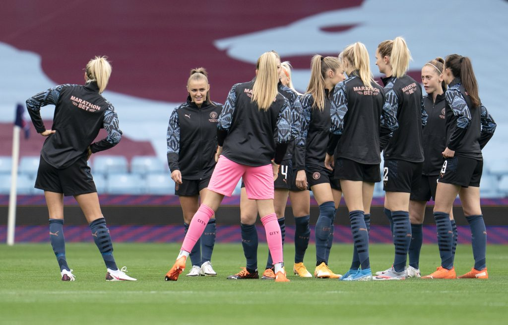 Manchester City will take on Barcelona in Italy in first leg of UWCL quarter-final