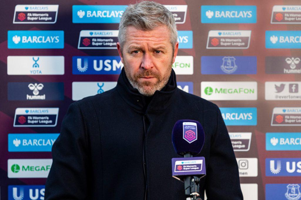 Everton boss Kirk pleased with increased options ahead of Chelsea fixture